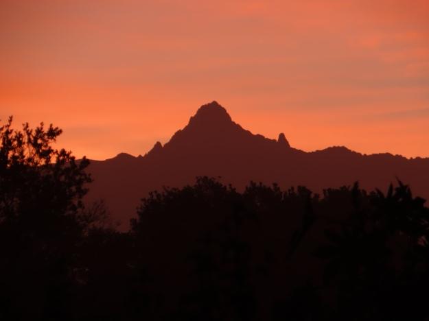 Sunrise over Mount Kenya from Ol Pejeta