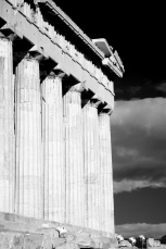 Mono Parthenon colonnade and entablature with floodlights